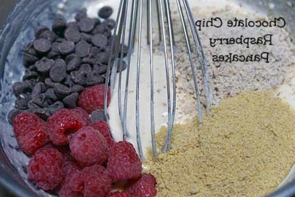 panquecas de chocolate framboesa - healthified