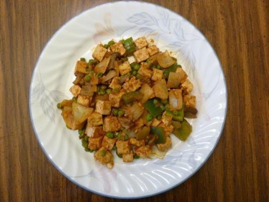 tofu assado com pimentão e cebola