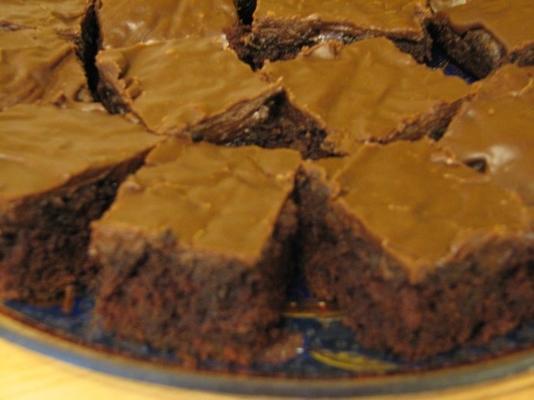 brownies de abobrinha fudgy (ovo, nozes e sem lactose)