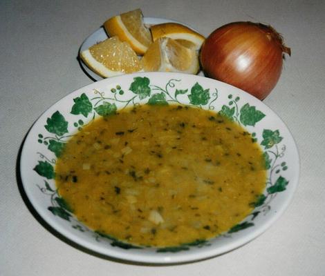 sopa de lentilha (adas)