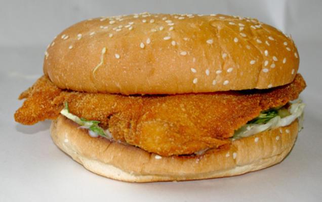 hambúrguer rei bk peixe grande imitador