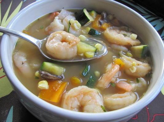 camarão e sopa de milho (rachael ray)
