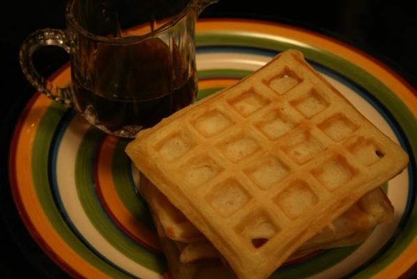 Os melhores waffles de soro de leite da alvorada