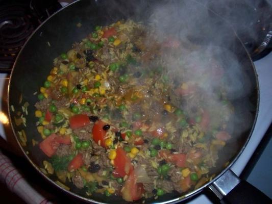 pilaf de carne picante