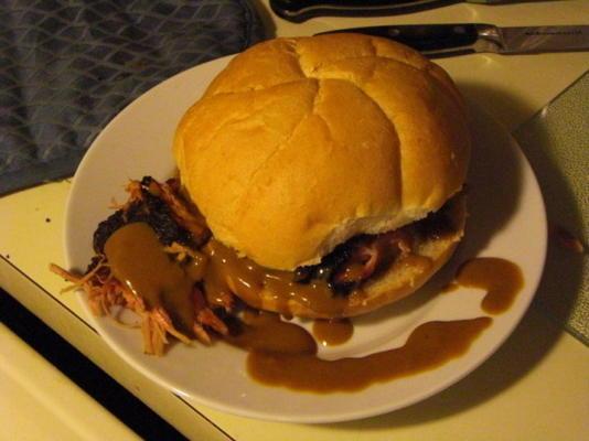 carne de porco puxada estilo north carolina