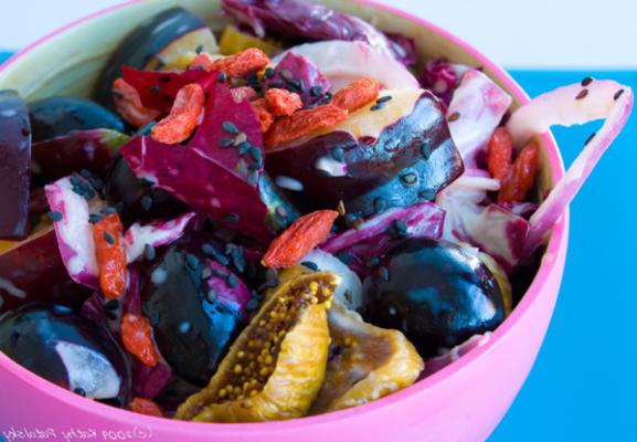 salada de frutas antioxidante roxo poder