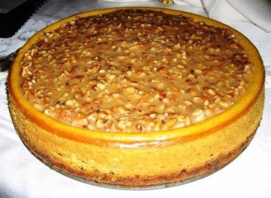 cheesecake de abóbora praliné