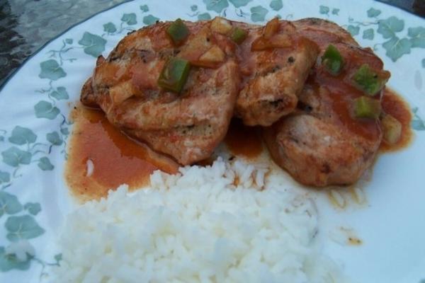 costeletas de porco marinadas picantes