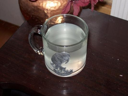 chá de gengibre fresco