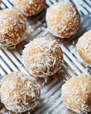 bolas de neve de coco