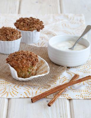 muffins de abobrinha de maçã
