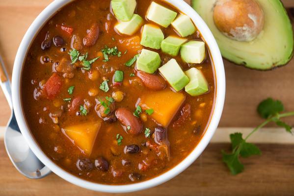 pimentão de lentilha vegan slow-cooker