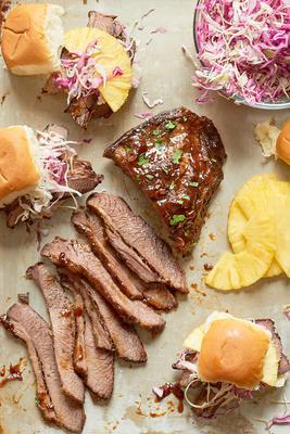 sanduíches de peito de frango hawaiian fogão lento