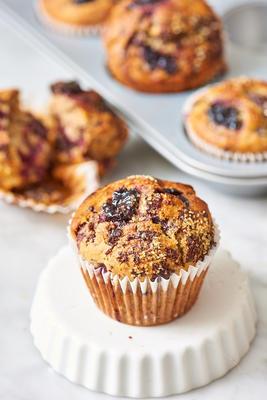 muffins de pedaço de chocolate cereja azeda