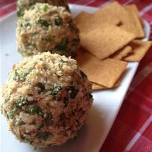 Bola de queijo de salmão