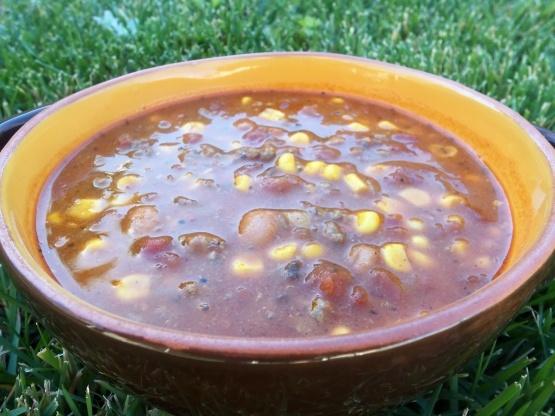 Sopa de taco de paula deen - modificado